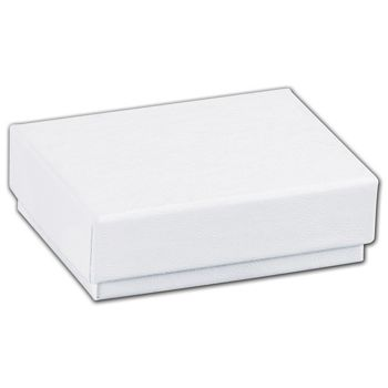White Swirl Jewelry Boxes, 2 x 1 1/2 x 5/8
