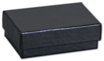 Black Matte Jewelry Boxes, 2 7/16 x 1 5/8 x 13/16