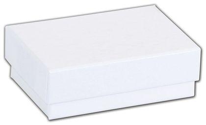 "White Krome Jewelry Boxes, 2 7/16 x 1 5/8 x 13/16"""
