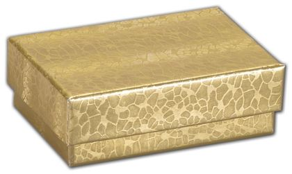 """Gold Foil Embossed Jewelry Boxes, 2 7/16 x 1 5/8 x 13/16"""""""