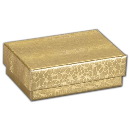 Gold Foil Embossed Jewelry Boxes, 2 7/16 x 1 5/8 x 13/16""