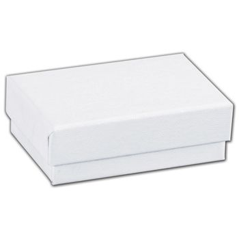 White Swirl Jewelry Boxes, 2 7/16 x 1 5/8 x 13/16