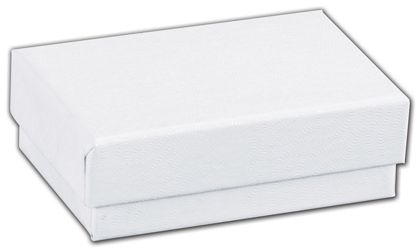 "White Swirl Jewelry Boxes, 2 7/16 x 1 5/8 x 13/16"""