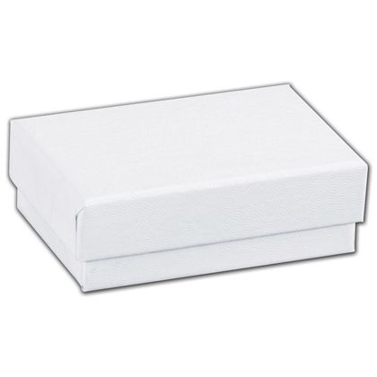 White Swirl Jewelry Boxes, 2 7/16 x 1 5/8 x 13/16""