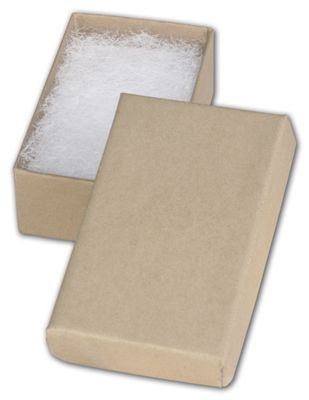 Natural Kraft Jewelry Boxes 2 12 x 1 12 x 78 Bags and Bows
