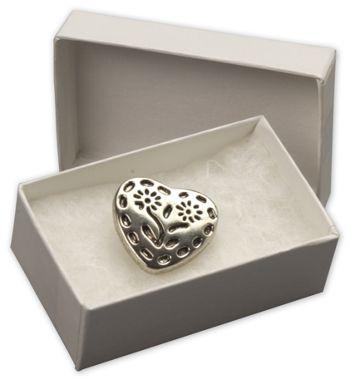 White Krome Jewelry Boxes, 2 7/16 x 1 5/8 x 1