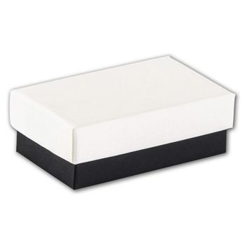 Black & White Jewelry Boxes, 2 1/2 x 1 1/2 x 7/8