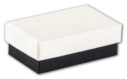 "Black & White Jewelry Boxes, 2 1/2 x 1 1/2 x 7/8"""