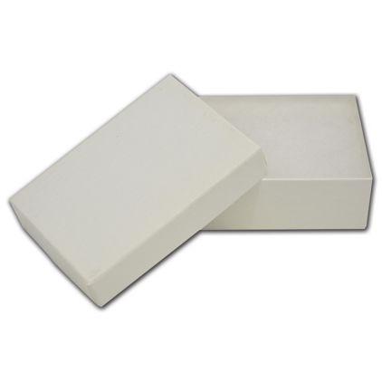 "White Krome Jewelry Boxes, 2 1/2 x 1 1/2 x 7/8"""