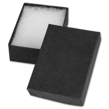 Black Jewelry Boxes, 3 x 2 1/8 x 1""