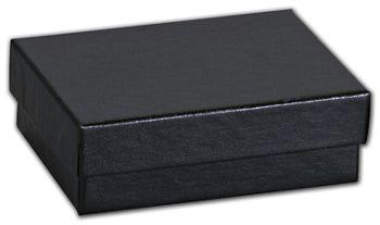 Black Matte Jewelry Boxes, 3 1/16 x 2 1/8 x 1