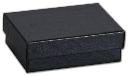 """Black Matte Jewelry Boxes, 3 1/16 x 2 1/8 x 1"""""""