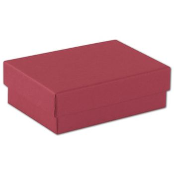 Red Jewelry Boxes, 3 x 2 1/8 x 1