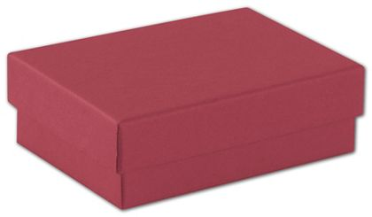 Red Jewelry Boxes, 3 x 2 1/8 x 1""