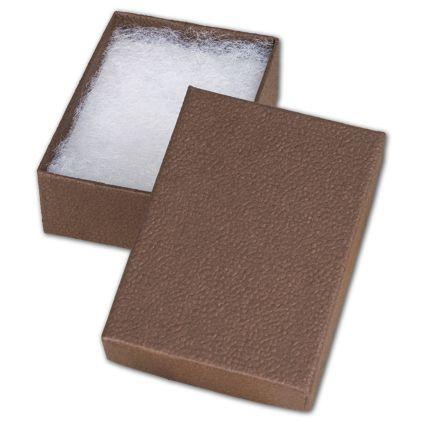 "Cocoa Jewelry Boxes, 3 1/16 x 2 1/8 x 1"""