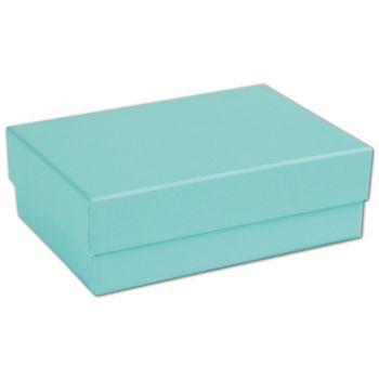 """Aqua Jewel Jewelry Boxes, 3 x 2 1/8 x 1"""""""