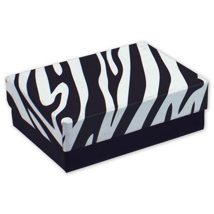 Zebra Jewelry Boxes, 3 x 2 1/8 x 1""