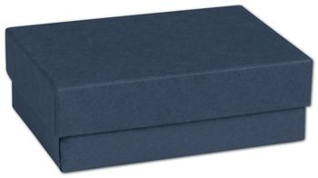 Navy Jewelry Boxes, 3 x 2 1/8 x 1