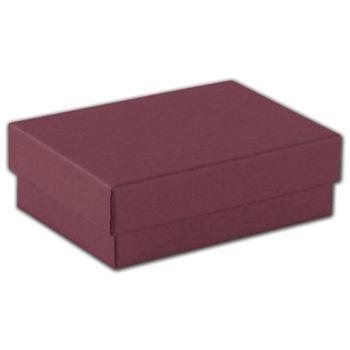 Merlot Jewelry Boxes, 3 x 2 1/8 x 1