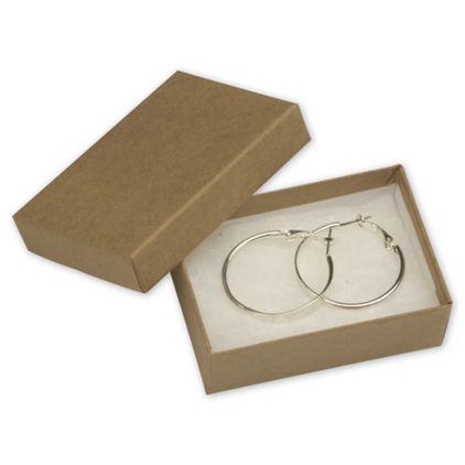 "Natural Kraft Jewelry Boxes, 3 1/16 x 2 1/8 x 1"""
