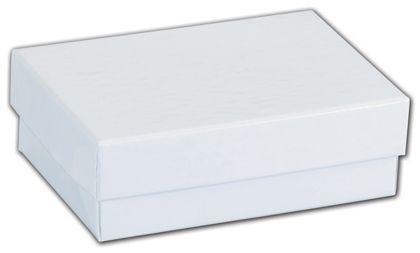 "White Krome Jewelry Boxes, 3 x 2 1/8 x 1"""
