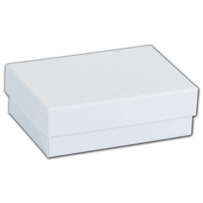 White Krome Jewelry Boxes, 3 x 2 1/8 x 1""