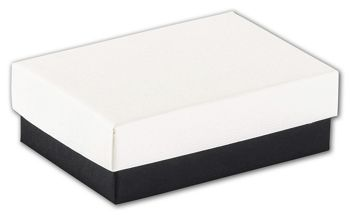 Black & White Jewelry Boxes, 3 1/16 x 2 1/8 x 1