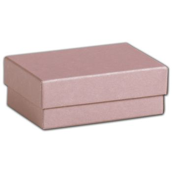 Rose Gold Jewelry Boxes, 3 x 2 1/8 x 1