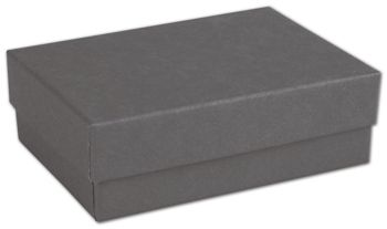 Slate Grey Jewelry Boxes, 3 x 2 1/8 x 1
