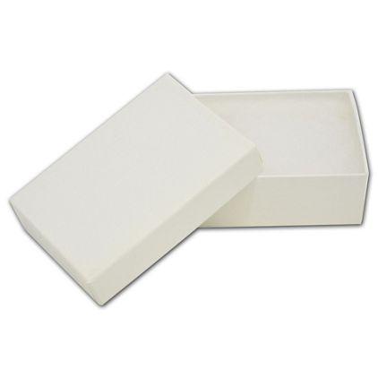 "White Krome Jewelry Boxes, 3 1/16 x 2 1/8 x 1"""