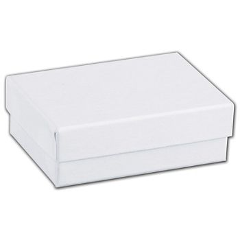 White Swirl Jewelry Boxes, 3 x 2 1/8 x 1""