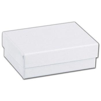 White Swirl Jewelry Boxes, 3 x 2 1/8 x 1