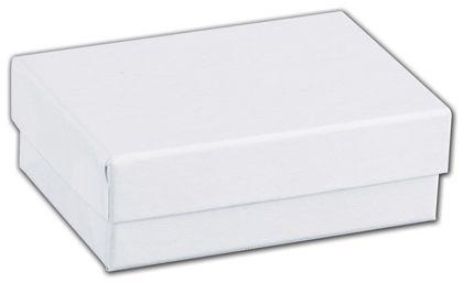 "White Swirl Jewelry Boxes, 3 x 2 1/8 x 1"""