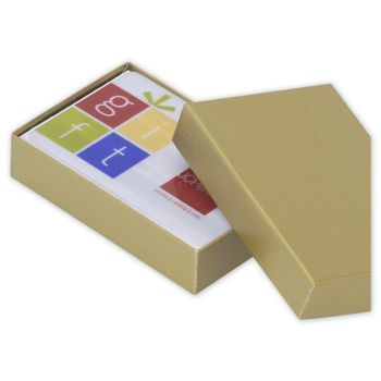 Gold Gift Card Boxes, 3 1/2 x 2 1/4 x 3/4
