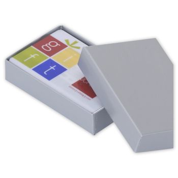 Silver Gift Card Boxes, 3 1/2 x 2 1/4 x 3/4