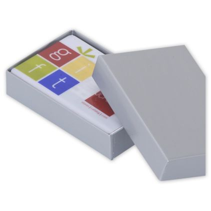 """Silver Gift Card Boxes, 3 1/2 x 2 1/4 x 3/4"""""""