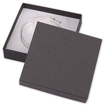 "Black Jewelry Boxes, 3 1/2 x 3 1/2 x 7/8"""