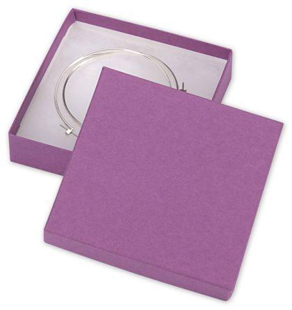 "Purple Jewelry Boxes, 3 1/2 x 3 1/2 x 7/8"""
