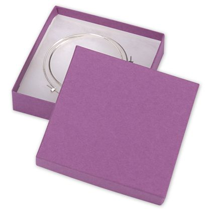 Purple Jewelry Boxes, 3 1/2 x 3 1/2 x 7/8""