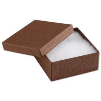 Cocoa Jewelry Boxes, 3 1/2 x 3 1/2 x 1""
