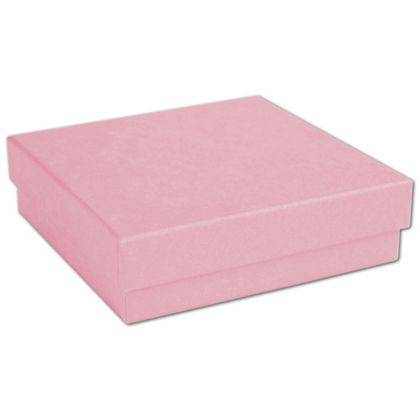 Pink Jewelry Boxes, 3 1/2 x 3 1/2 x 7/8""