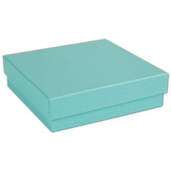 Aqua Jewel Jewelry Boxes, 3 1/2 x 3 1/2 x 7/8