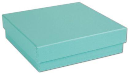"""Aqua Jewel Jewelry Boxes, 3 1/2 x 3 1/2 x 7/8"""""""