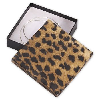 Leopard Jewelry Boxes, 3 1/2 x 3 1/2 x 7/8