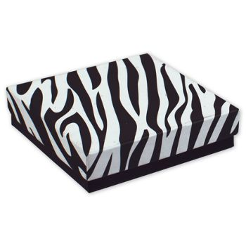 Zebra Jewelry Boxes, 3 1/2 x 3 1/2 x 7/8