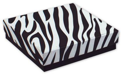 """Zebra Jewelry Boxes, 3 1/2 x 3 1/2 x 7/8"""""""