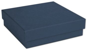 Navy Jewelry Boxes, 3 1/2 x 3 1/2 x 7/8