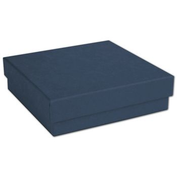 Navy Jewelry Boxes, 3 1/2 x 3 1/2 x 7/8""