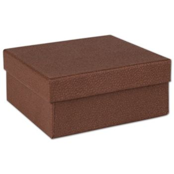 Cocoa Jewelry Boxes, 3 1/2 x 3 1/2 x 1 1/2
