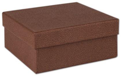 "Cocoa Jewelry Boxes, 3 1/2 x 3 1/2 x 1 1/2"""